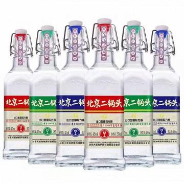 42度华都蓝瓶二锅头清香型国际出口型方瓶白酒