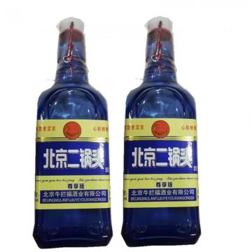42度蓝瓶二锅头浓香型国际版出口型方瓶低价白酒